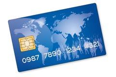 Blauwe Creditcard Stock Foto's