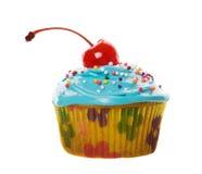Blauwe cupcake Royalty-vrije Stock Afbeeldingen