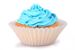 Blauwe cupcakes royalty-vrije stock fotografie