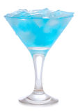 Blauwe Curacao cocktail stock foto's