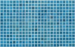 Blauwe of cyaantegelmuur Stock Fotografie