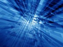Blauwe cyberspace Stock Foto's