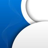 Blauwe 3D abstracte achtergrond stock illustratie