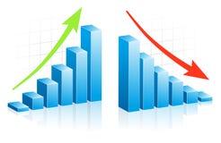 Blauwe 3d Vector Grafisch Royalty-vrije Stock Afbeeldingen