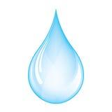 Blauwe daling vector illustratie