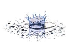 Blauwe daling van water Stock Afbeelding