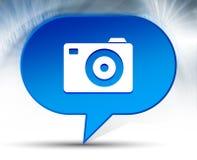 Blauwe de bellenachtergrond van het camerapictogram royalty-vrije stock foto's