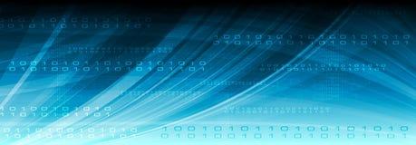 Blauwe de binaire codekopbal van Web vectortechnologie royalty-vrije illustratie