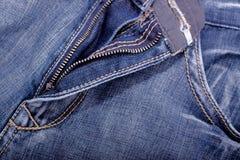 Blauwe de broekclose-up van Jean stock foto's