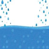 Blauwe de dalingskaart van stijldeco Stock Foto