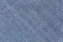 Blauwe de doektextuur van de Jutezak Stock Foto