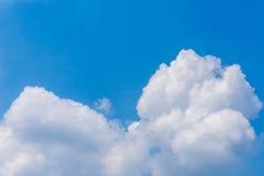 Blauwe de Hemelachtergrond van de wolkencumulus Royalty-vrije Stock Foto