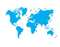 Blauwe de hemelvector van de wereldkaart stock illustratie