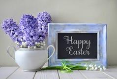Blauwe de lenteachtergrond Blauwe hyacint en lelie van valle Royalty-vrije Stock Fotografie