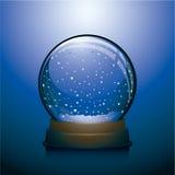 Blauwe de sneeuwbol van Kerstmis Royalty-vrije Stock Afbeeldingen