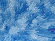 Blauwe de staafAchtergrond van het kristal Stock Foto
