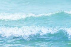 Blauwe de textuurachtergrond van Watergolven Royalty-vrije Stock Afbeeldingen