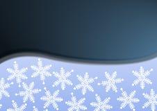 Blauwe de winterachtergrond Stock Afbeelding