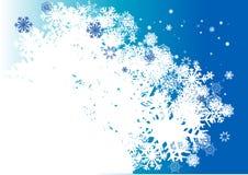 Blauwe de winterachtergrond Royalty-vrije Stock Afbeelding