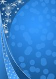Blauwe de winterachtergrond Stock Fotografie
