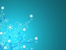 Blauwe de winterachtergrond Stock Afbeeldingen