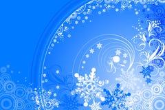Blauwe de winterachtergrond Stock Illustratie