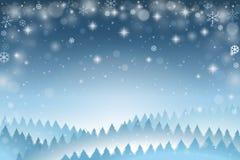 Blauwe de winterachtergrond royalty-vrije illustratie