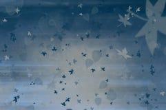 Blauwe de winterachtergrond met bladeren Royalty-vrije Stock Afbeelding