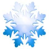 Blauwe de wintersneeuwvlok Stock Fotografie