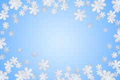 Blauwe de wintersneeuwvlok royalty-vrije stock foto