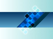Blauwe decoratieve achtergrond Royalty-vrije Stock Afbeeldingen