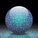 Blauwe decoratieve bal Royalty-vrije Stock Afbeeldingen