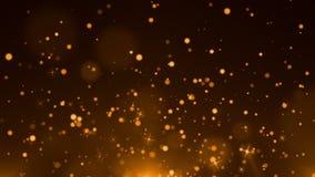 Blauwe deeltjesachtergrond stock video