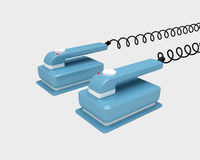 Blauwe defibrillator stootkussens Stock Afbeeldingen