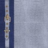 Blauwe dekking voor een fotoalbum of CD Royalty-vrije Stock Afbeeldingen