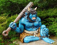Blauwe demon royalty-vrije stock afbeeldingen