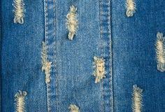 Blauwe denimachtergrond van ruwe doek Royalty-vrije Stock Afbeelding