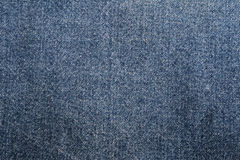 Blauwe denimdoek Stock Afbeelding