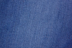 Blauwe denimstof Royalty-vrije Stock Foto's