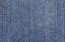 Blauwe denimtextuur Stock Afbeelding