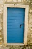 Blauwe deur Royalty-vrije Stock Afbeelding
