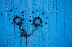 Blauwe deur Royalty-vrije Stock Foto