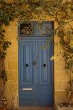 Blauwe deur Gozo Malta Royalty-vrije Stock Foto's
