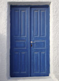 Blauwe Deur, Santorini Royalty-vrije Stock Afbeelding