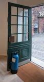 Blauwe deurkurk royalty-vrije stock foto