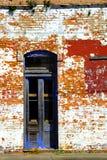 Blauwe deuropening Stock Foto's