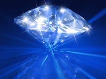 Blauwe diamant Royalty-vrije Stock Afbeeldingen