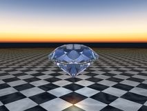 Blauwe Diamant Royalty-vrije Stock Afbeelding