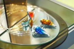 Blauwe diamant Stock Afbeelding