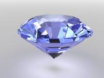 Blauwe diamant met zachte schaduwen Royalty-vrije Stock Afbeeldingen